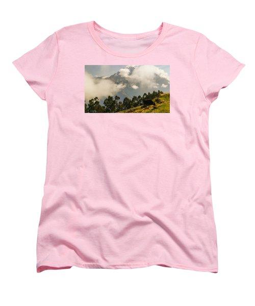 Peru Mountains With Cow Women's T-Shirt (Standard Cut) by Allen Sheffield
