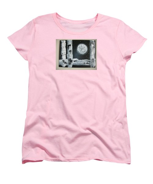 Women's T-Shirt (Standard Cut) featuring the painting Pie In The Sky by Sharyn Winters