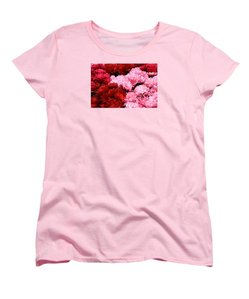 Pink And Red Women's T-Shirt (Standard Cut) by Menachem Ganon
