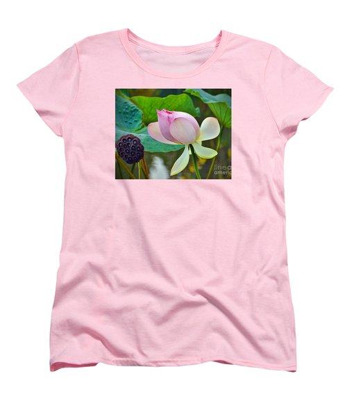 Pink Lotus Women's T-Shirt (Standard Cut) by Savannah Gibbs