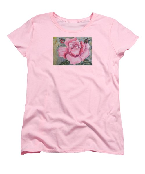 Pink Rose Women's T-Shirt (Standard Cut)