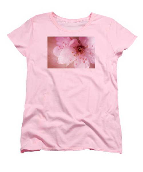 Women's T-Shirt (Standard Cut) featuring the photograph Pink Spring Blossom by Ann Lauwers