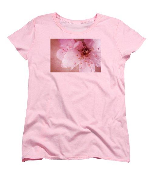 Pink Spring Blossom Women's T-Shirt (Standard Cut) by Ann Lauwers