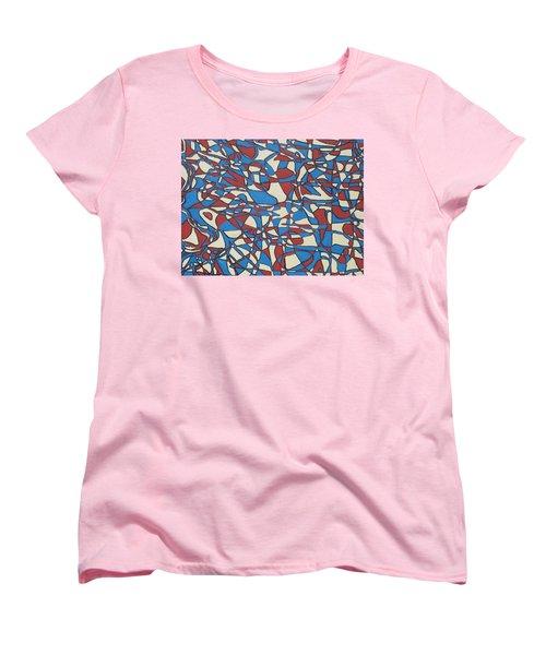Women's T-Shirt (Standard Cut) featuring the painting Planet Abstract by Jonathon Hansen