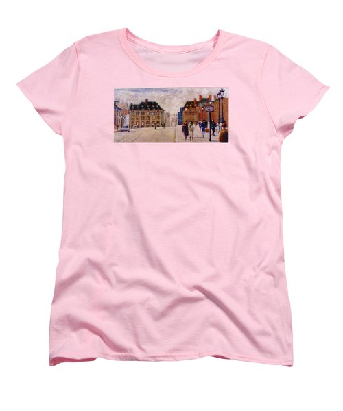 Women's T-Shirt (Standard Cut) featuring the painting Pont Neuf by Walter Casaravilla