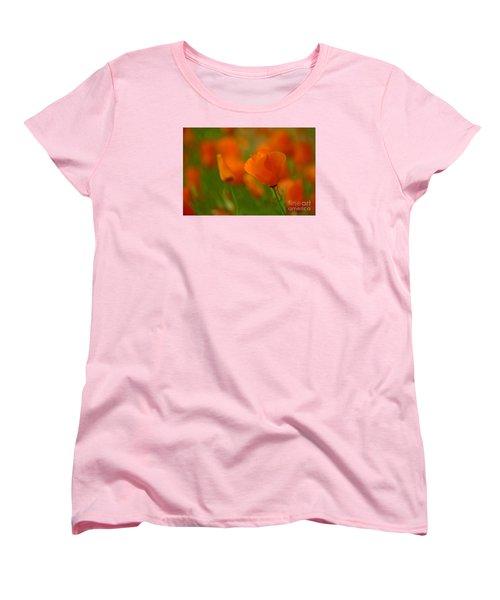 Women's T-Shirt (Standard Cut) featuring the photograph Poppy Art by Nick  Boren