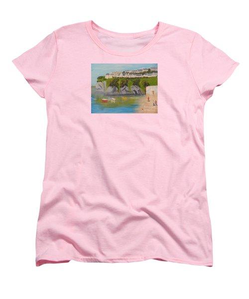 Women's T-Shirt (Standard Cut) featuring the painting Port Asaac Cornwell by Pamela  Meredith