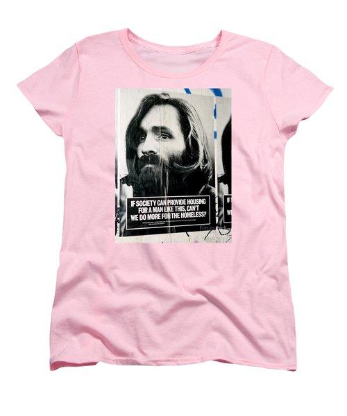 Poster Boy Charlie Women's T-Shirt (Standard Cut) by Ed Weidman