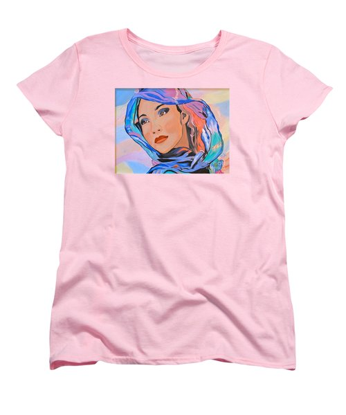 Pretty Lady Women's T-Shirt (Standard Cut) by Phyllis Kaltenbach