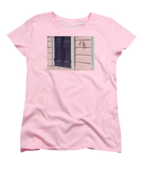 Women's T-Shirt (Standard Cut) featuring the photograph Purple Door by Valerie Reeves