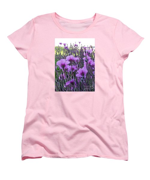 Women's T-Shirt (Standard Cut) featuring the photograph Purple Field by Jasna Gopic