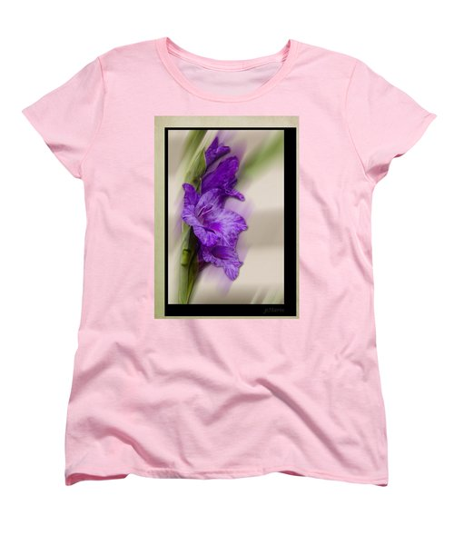Women's T-Shirt (Standard Cut) featuring the photograph Purple Gladiolus by Patti Deters