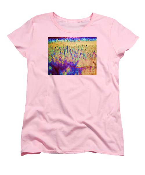Purple Tan Stone Abstract Women's T-Shirt (Standard Cut) by Eric  Schiabor