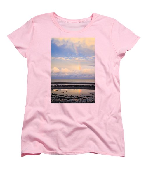 Women's T-Shirt (Standard Cut) featuring the photograph Rainbow Over Bramble Bay by Peta Thames