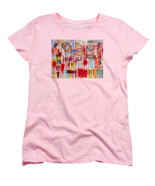 Women's T-Shirt (Standard Cut) featuring the painting Rainy Panes by Jason Williamson