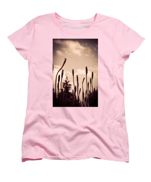 Flowers Reaching For The Sky Women's T-Shirt (Standard Cut) by Brian Caldwell