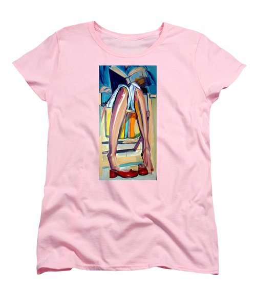 Women's T-Shirt (Standard Cut) featuring the painting Read On by Ecinja Art Works