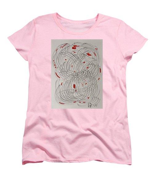 Red Fan Women's T-Shirt (Standard Cut) by Mary Carol Williams