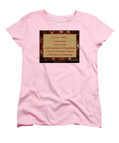 Reiki Principles Women's T-Shirt (Standard Cut) by Bobbee Rickard