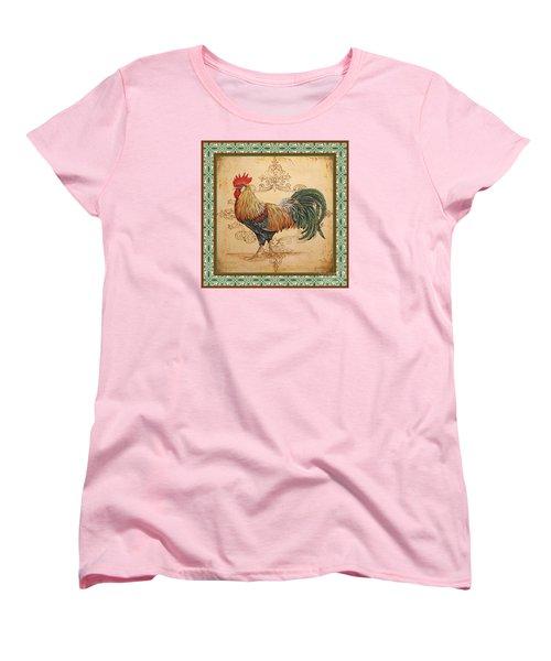 Renaissance Rooster-a-green Women's T-Shirt (Standard Cut) by Jean Plout