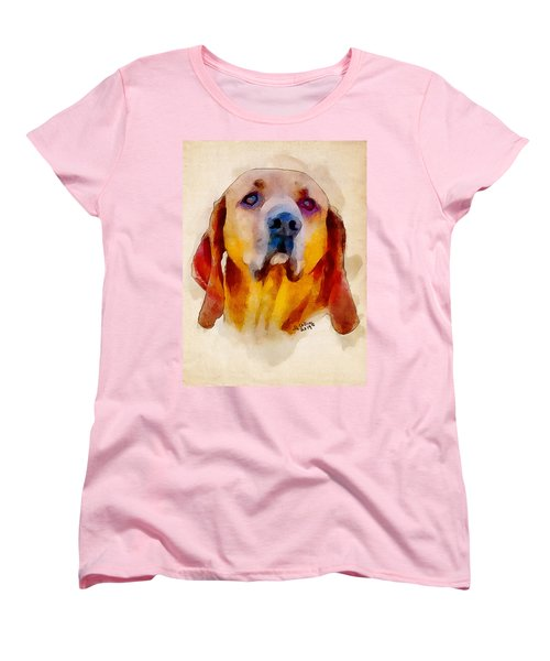 Women's T-Shirt (Standard Cut) featuring the painting Retriever by Greg Collins