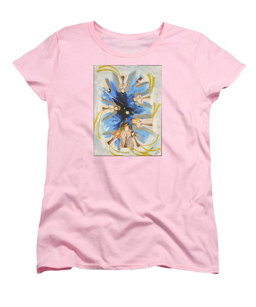 Women's T-Shirt (Standard Cut) featuring the painting Revelation 8-11 by Cassie Sears