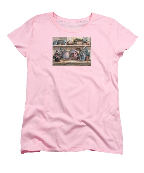 Women's T-Shirt (Standard Cut) featuring the painting Rhapsody In Rose by Michael Humphries