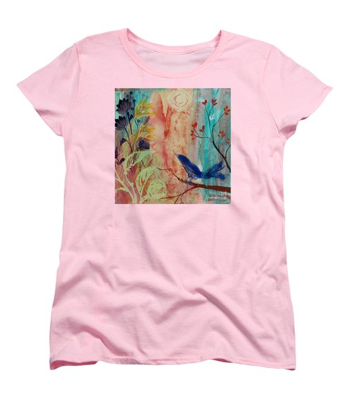 Women's T-Shirt (Standard Cut) featuring the painting Rhythm And Blues by Robin Maria Pedrero