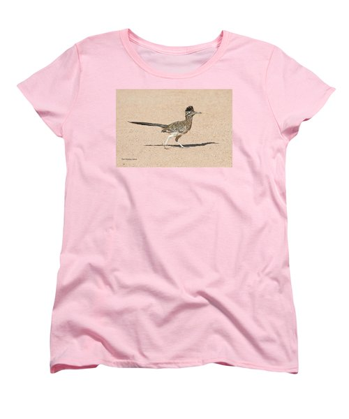 Women's T-Shirt (Standard Cut) featuring the photograph Road Runner On The Road by Tom Janca