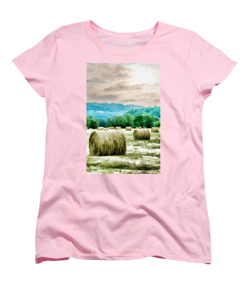 Rolled Bales Women's T-Shirt (Standard Cut) by Mick Anderson