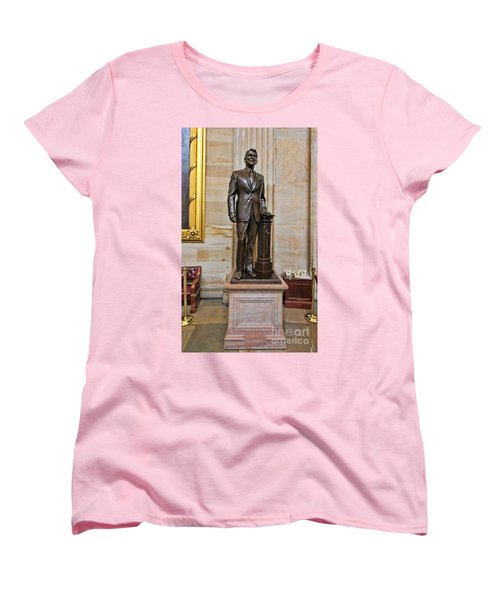 Ronald Regan -  U S Capitol Statuary Hall Women's T-Shirt (Standard Cut) by Allen Beatty