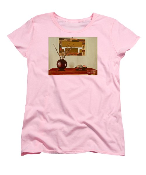 Women's T-Shirt (Standard Cut) featuring the painting Round Vase by Laura Forde