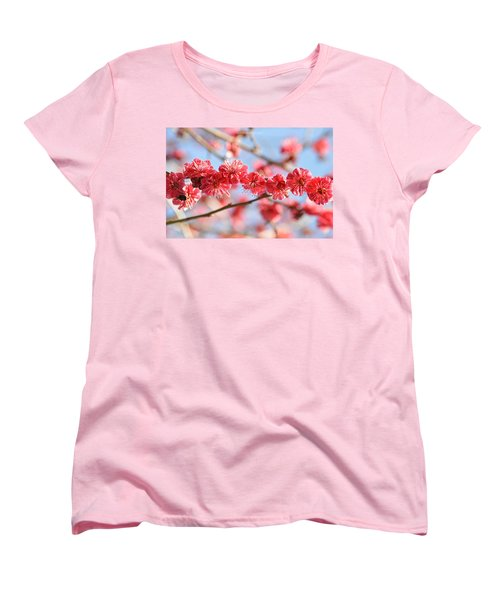 Ruby Studded Women's T-Shirt (Standard Cut) by Sonali Gangane