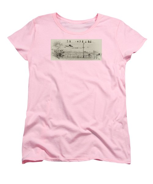 Rust Wind And Time Are Not Kind Women's T-Shirt (Standard Cut) by Wilma  Birdwell