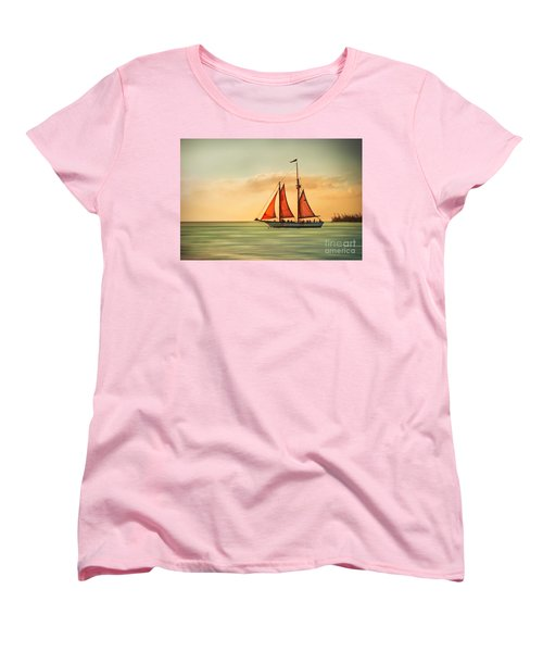 Sailing Into The Sun Women's T-Shirt (Standard Cut) by Hannes Cmarits