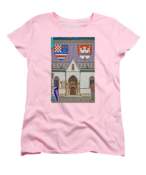 Saint Mark Church Facade Vertical View Women's T-Shirt (Standard Cut) by Brch Photography