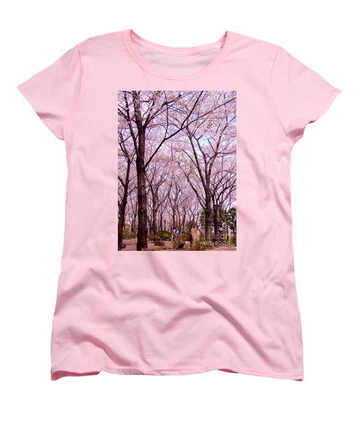 Women's T-Shirt (Standard Cut) featuring the photograph Sakura Tree by Andrea Anderegg