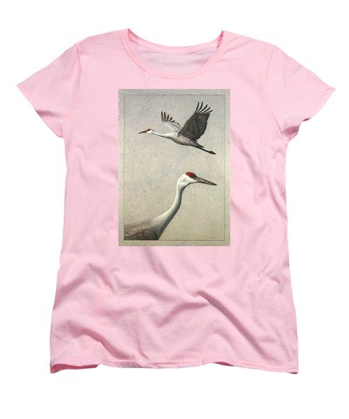 Sandhill Cranes Women's T-Shirt (Standard Cut) by James W Johnson