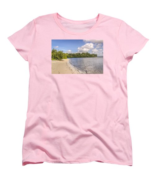 Women's T-Shirt (Standard Cut) featuring the photograph Sandy Beach by Jane Luxton