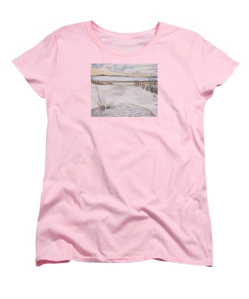 Santa Cruz Sunset Women's T-Shirt (Standard Cut) by Ian Donley