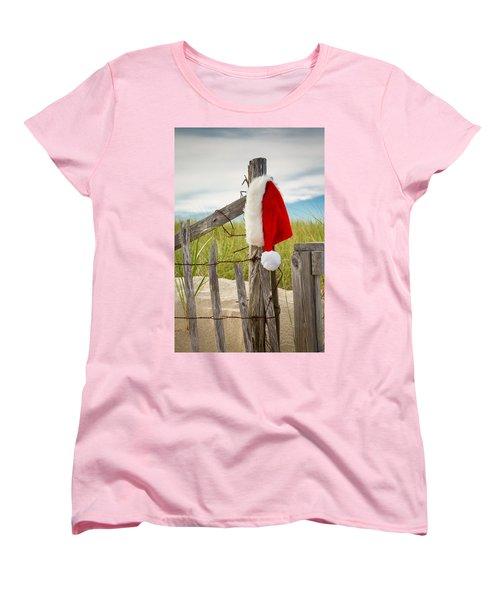 Santa's Downtime Women's T-Shirt (Standard Cut) by Brian Caldwell