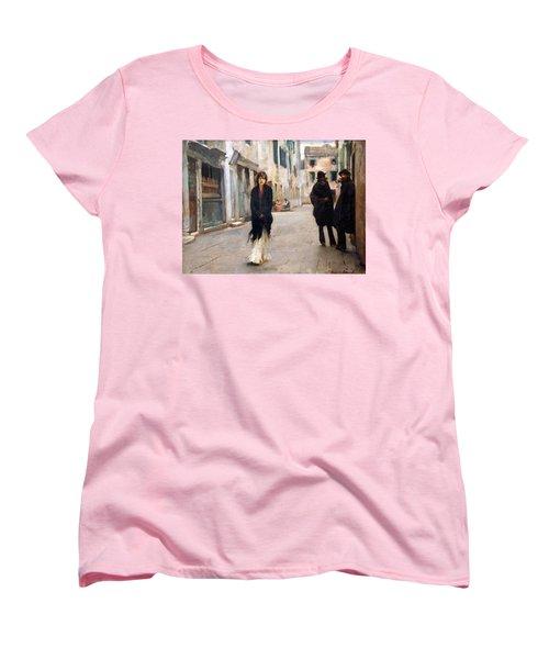 Sargent's Street In Venice Women's T-Shirt (Standard Cut) by Cora Wandel