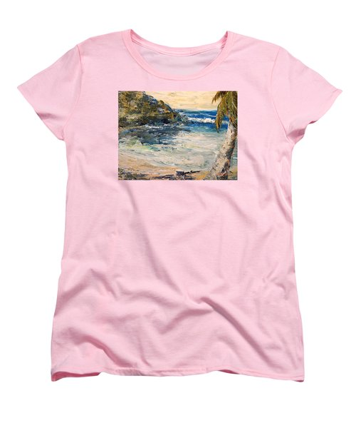 Women's T-Shirt (Standard Cut) featuring the painting Saturday Afternoon  by Alan Lakin