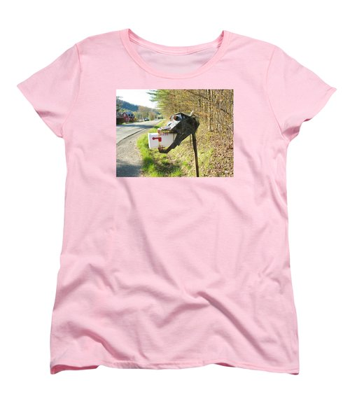 Women's T-Shirt (Standard Cut) featuring the photograph Scary Mailbox by Sherman Perry