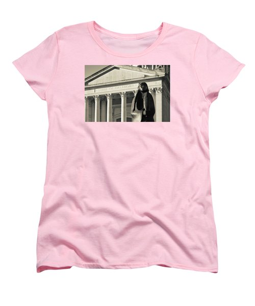 Sculpture Of Native American Women's T-Shirt (Standard Cut) by Panoramic Images