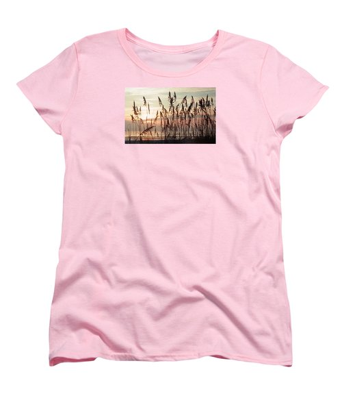 Women's T-Shirt (Standard Cut) featuring the photograph Spectacular Sea Oats At Sunrise by Belinda Lee