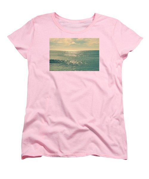 Sea Of Tranquility Women's T-Shirt (Standard Cut) by Laura Fasulo