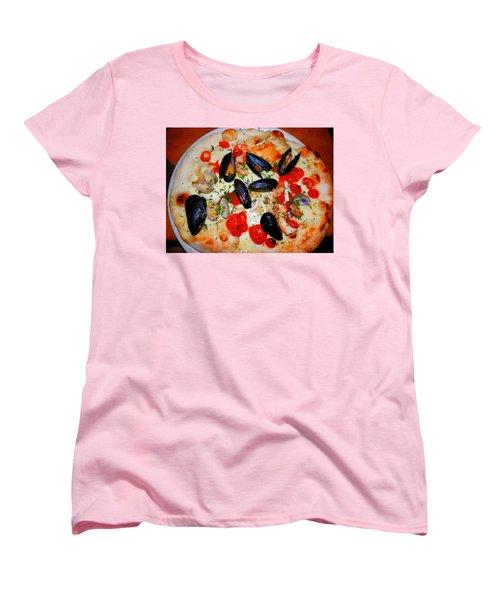Seafood Pizza Women's T-Shirt (Standard Cut) by Pema Hou
