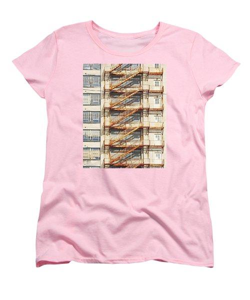 Sears Crosstown Fire Escape Memphis Tn Women's T-Shirt (Standard Cut) by Lizi Beard-Ward