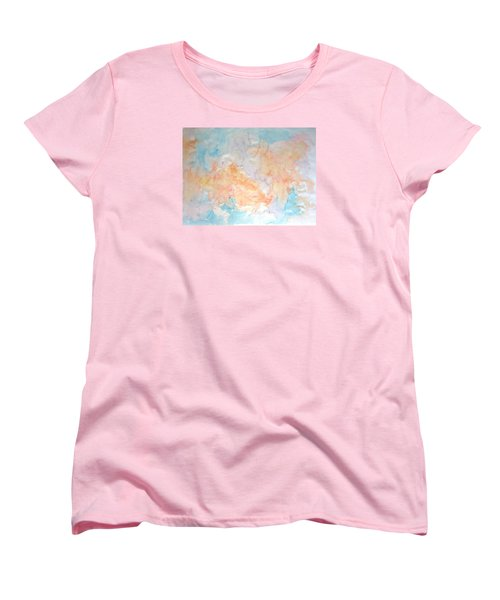 Women's T-Shirt (Standard Cut) featuring the painting Seaside In Summer by Esther Newman-Cohen